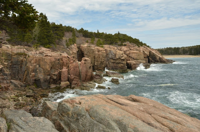 Otter Cliff coastline At Acadia National Park