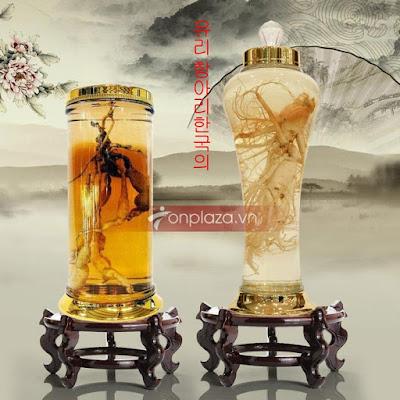 Bình ngâm sâm Ngọc Linh nên chọn bình thủy tinh Hàn Quốc