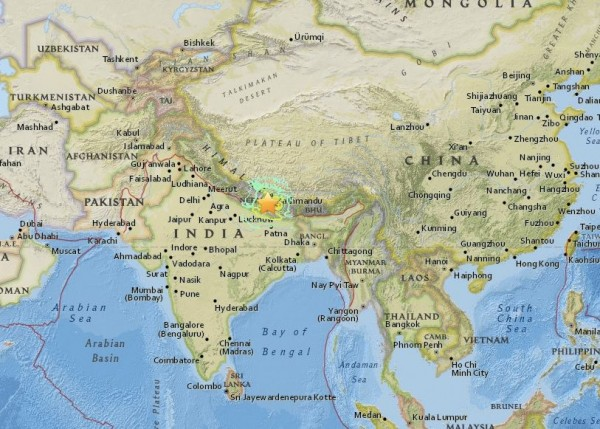 powerful 7.9 magnitude earthquake an extremely strong in Nepal April 25, 2015