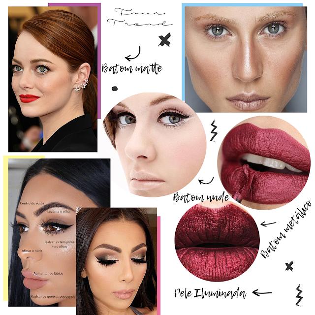4 tendências de maquiagem que você precisa ficar de olho