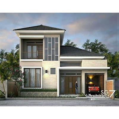 Tipe rumah cantik minimalis dengan garasi samping
