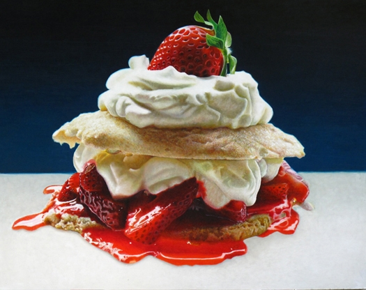 15-Strawberry-Shortcake-Mary-Ellen-Johnson-A-Sweet-Tooth-s-Dream-in-Food-Art-Paintings-www-designstack-co