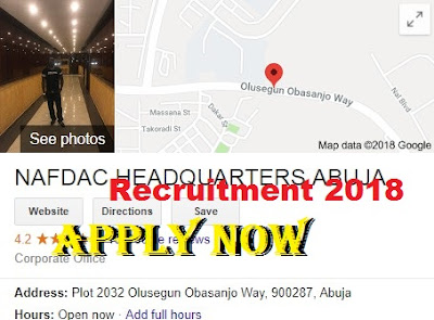 NAFDAC Recruitment 2018/2019 | Application Portal www.nafdac.gov.ng