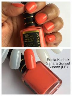 Sonia Kashuk Sahara Sunset Nail Colour Sunray on dark skin