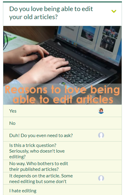 opinion stage, polling site, poll service, editing old articles, edit, articles, writing, posts
