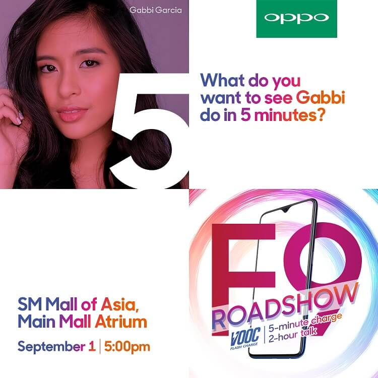 OPPO F9 Roadshow to Highlight 5-minute Charge, 2-hour Talk Feature