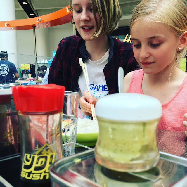 Eating out with family Yo! Sushi review from food blogger madmumof7