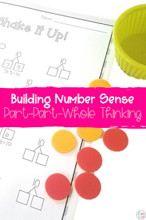 Click this pin to save this post on number sense activities for building part whole thinking onto Pinterest.