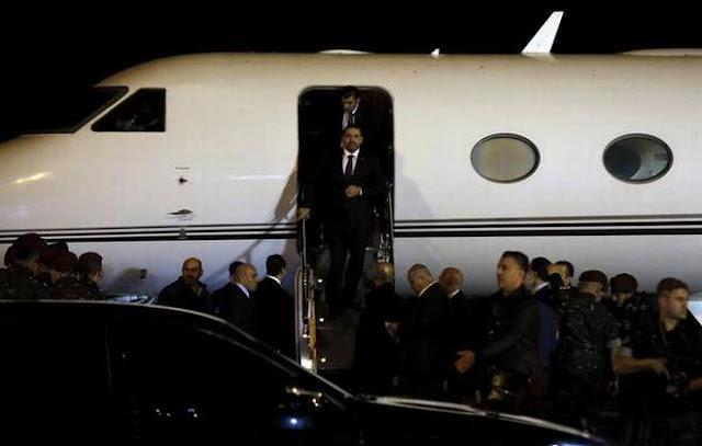 O primeiro-ministro volta ao Líbano pela primeira vez após ter renunciado, no dia 4 de novembro, durante uma visita à Arábia Saudita.