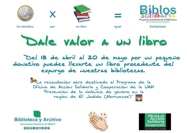 Recaudaci n biblos solidaria dale valor a un libro for Oficina recaudacion madrid