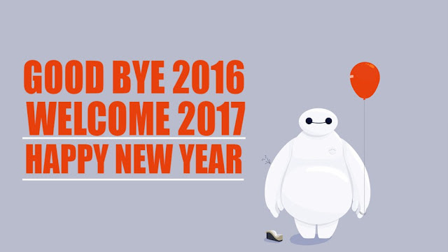 Goodbye 2016 Welcome Happy New Year 2017 Image