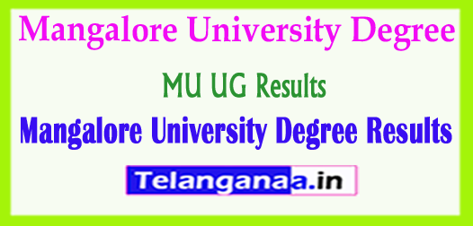 MU UG Results 2018 Mangalore University Degree Results 2018
