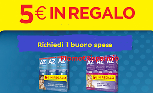 Logo AZ ti regala buoni spesa da 5 euro: richiedili