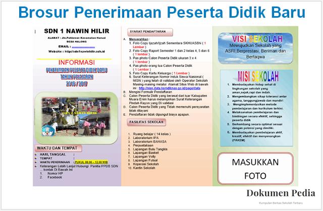 Download Contoh Brosur Penerimaan Peserta Didik Baru PPDB