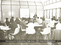 Classroom at Female Division, Boggo Road, Brisbane, c.1983.