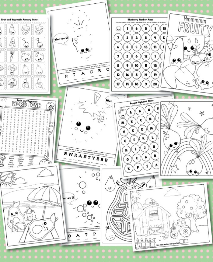 That Your Kids Will Love This 12 Page Printable Set Includes A Memory Game Connect The Dot Pages Mazes Alphabet And Counting Puzzles Coloring