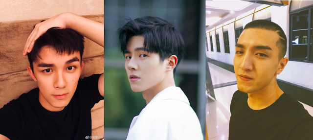 Three young Chinese actors 2019