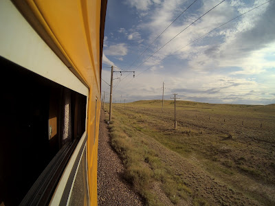 pociąg z Astany do Ałma-Aty