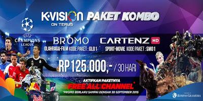 Promo Paket KOMBO K Vision All Channel