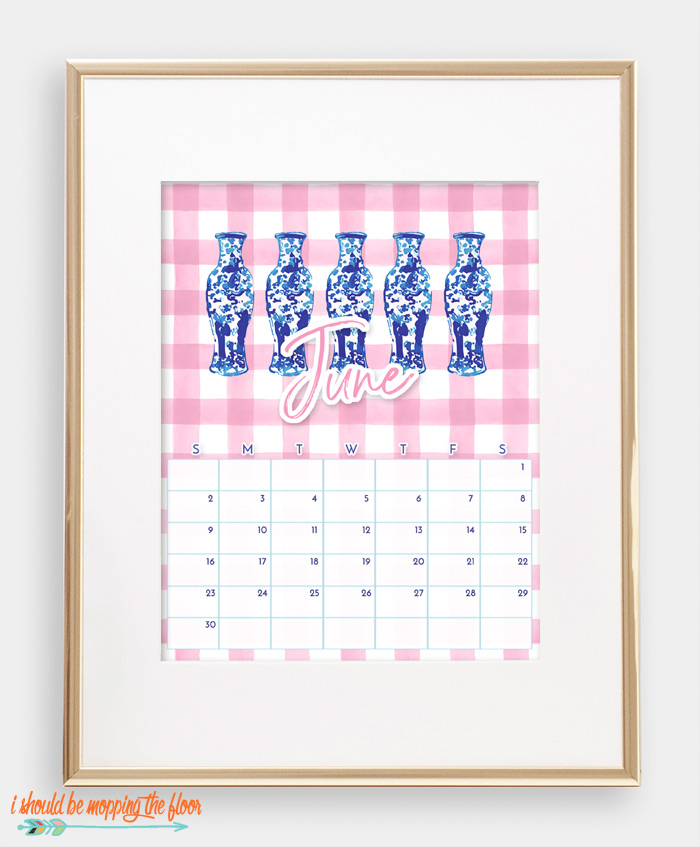 June Chinoiserie Calendar