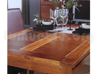 mesa comedor con tapa rejilla hecho en teca 4191/3