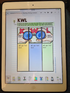 Reading and Writing Digital Interactive Notebook