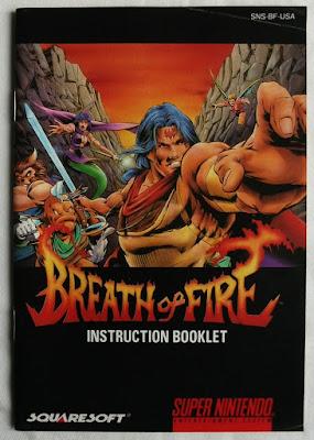 Breath of Fire - Colección - Manual delante