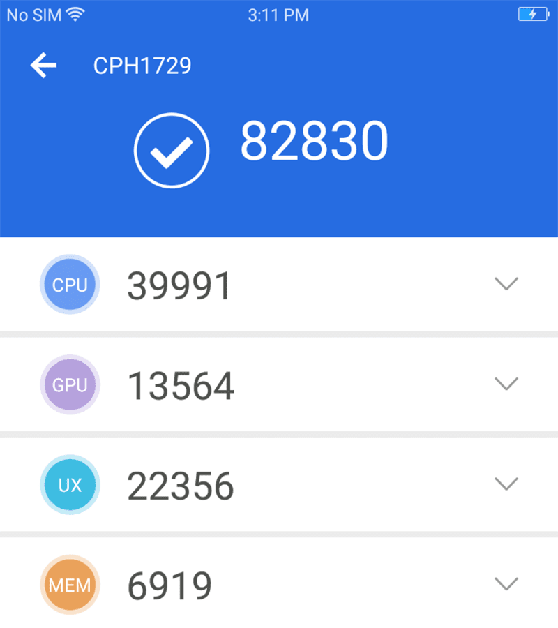 One of the highest AnTuTu score for the price!