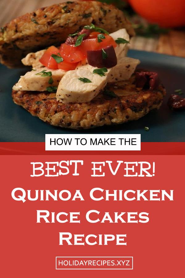 Quinoa Rice Cakes With Mediterranean Chicken Recipe   Chicken Rice Cakes Recipe   Dinner Recipe   Easy Dinner recipe   easy dinner ideas   Quinoa Rice Cake Recipe #chickenrecipe #dinnerrecipe #chickenrice #chicken #ricecakes #easydinnerrecipe #dinner