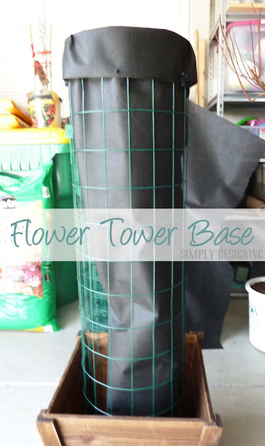 Flower Tower Base Built, DIY Flower Tower, Simply Designing, #digin #heartoutdoors #spring #sponsored