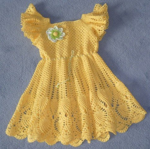 Crochet Patterns for free crochet baby dress 1454