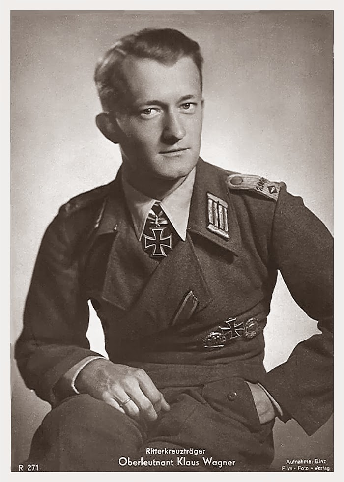 Klaus Wagner Ritterkreuzträger Knight Cross Holder Postcard