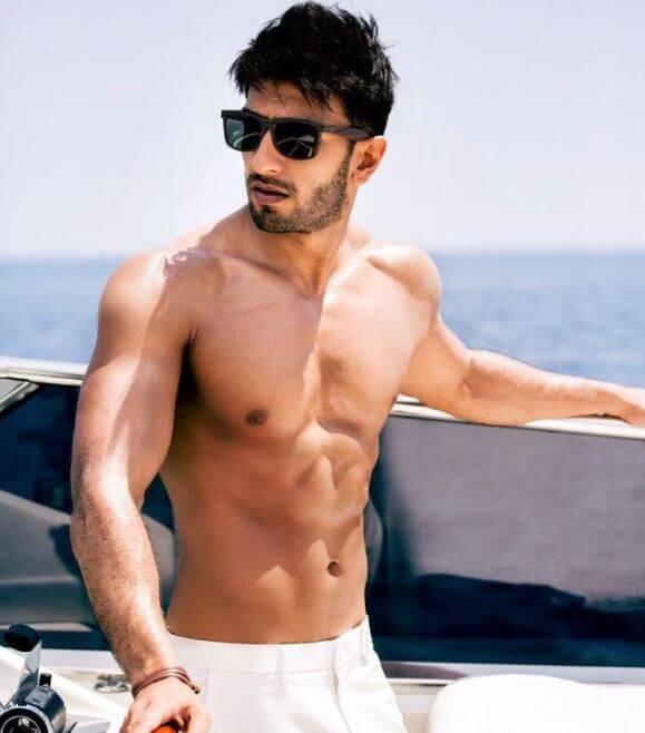Shirtless Ranveer Singh Photos