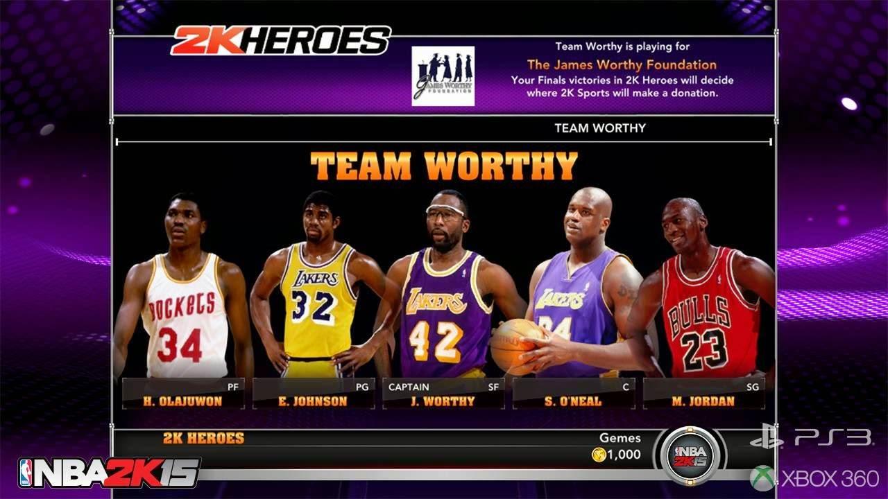 NBA 2k15 2k Heroes Mode : Team Worthy