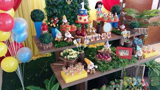 Decoração festa infantil Branca de Neve Porto Alegre