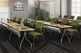 Global Bungee SL Powered Training Room Tables Configuration