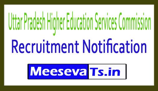 Uttar Pradesh Higher Education Services Commission UPHESC Recruitment