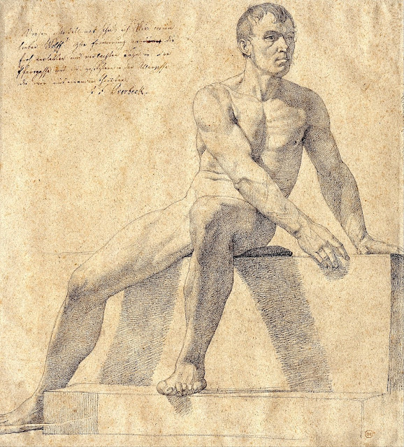 Friedrich Overbeck - Uomo nudo seduto