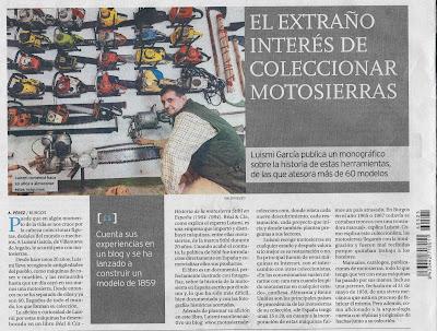 Motosierra de Colección en el Diario de Burgos