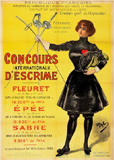 Jocs Olímpics, París 1900, esgrima, poster, ilustració