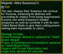 naruto castle defense 6.3 Madara Majestic Attire.Susanoo detail