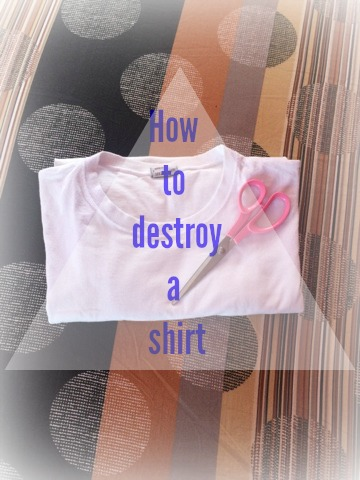 FashionDRA | DIY + Lookbook : How To  Destroy  A Shirt