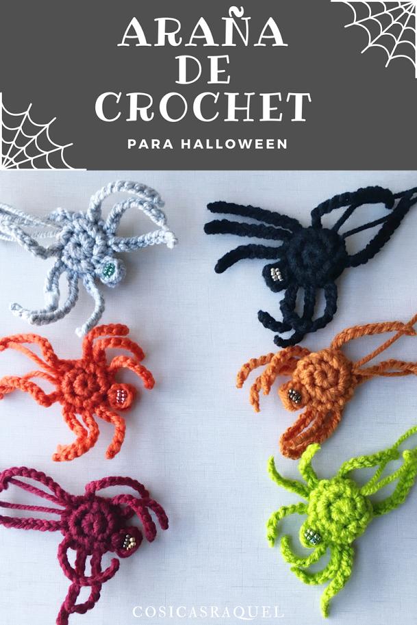 cosicasraquel: Patrón Araña de Crochet para Halloween