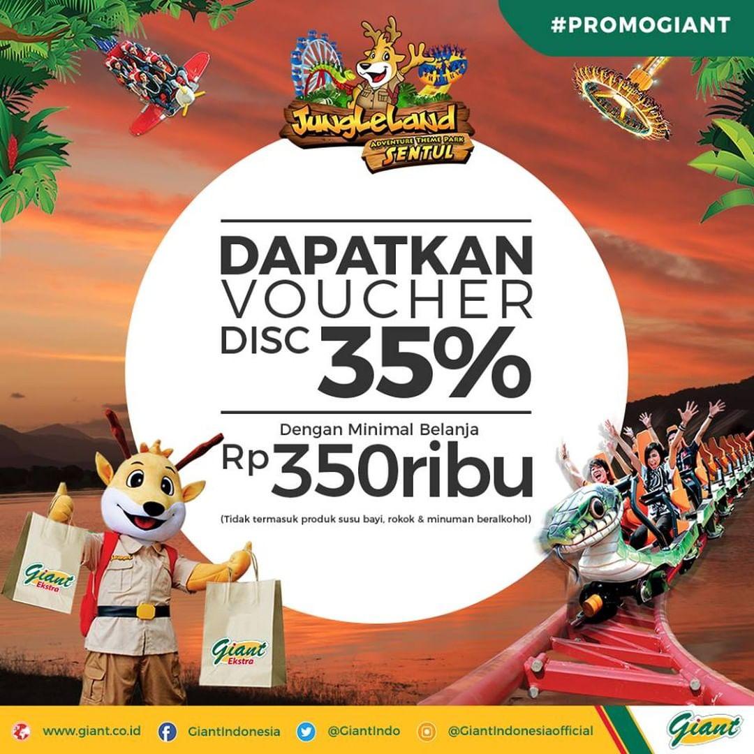 Giant - Promo Min Belanja 350 Ribu Dapat Voucher Diskon 35% Voucher Jungleland