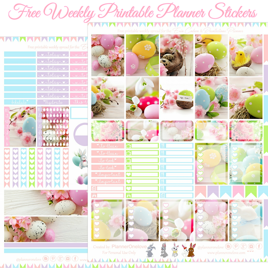 Planner Onelove: Happy Easter Printable Planner Stickers For The Erin Condren & Recollections Planner