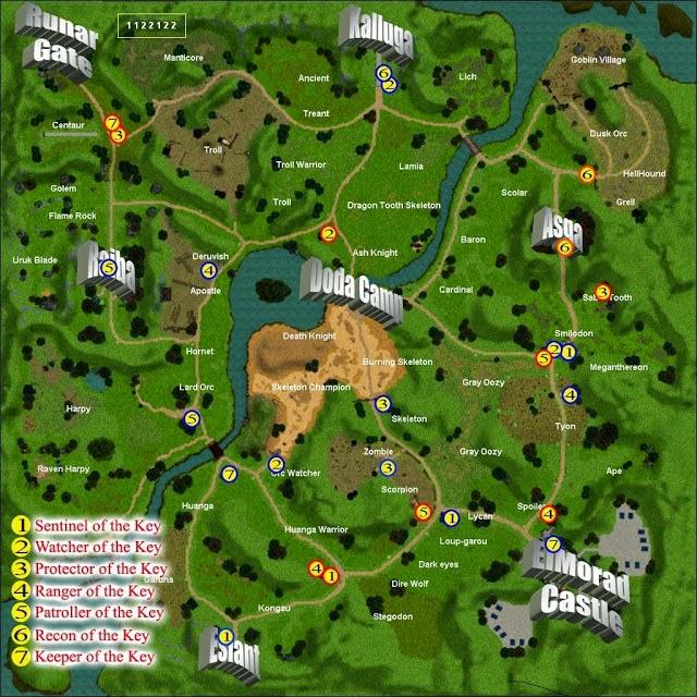 Knight Online Anahtar Görevi Elmorad Haritası