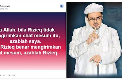 Nyatakan Siap Diazab, Ade Armando Terima Tantangan Mubahalah Habib Rizieq