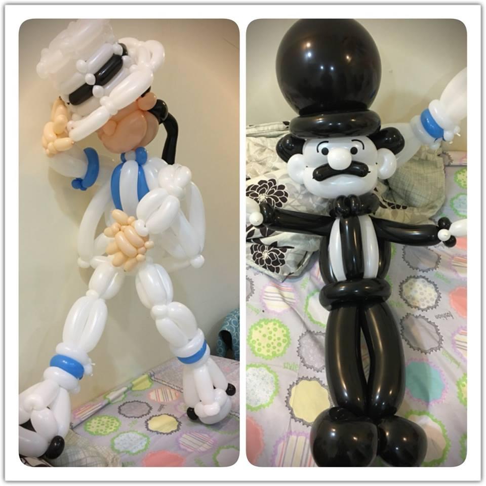 氣球麥可傑克森&氣球卓別林