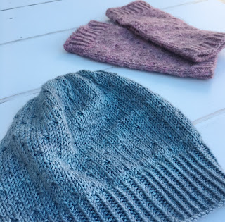 Finished Tchaikovsky hat and mitts