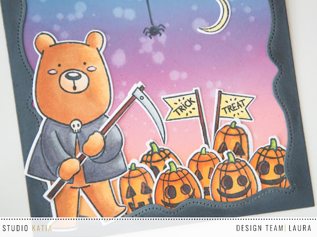 Halloween Card Kobi The Grim Reaper Close up